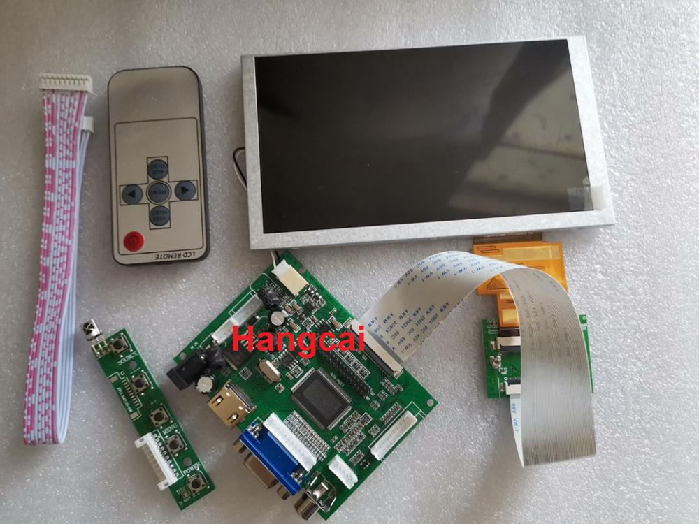 HDMI+VGA+2AV 60pin 800*480 LCD Display Driver Board Controller Kit For Panel HSD062IDW1 A00  A01 A02
