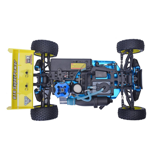Free shipping HSP Baja 1/10 ratio nitro power off-road vehicle 4WD RC car 94166 and 18cxp engine speed 60-80KM/H 5