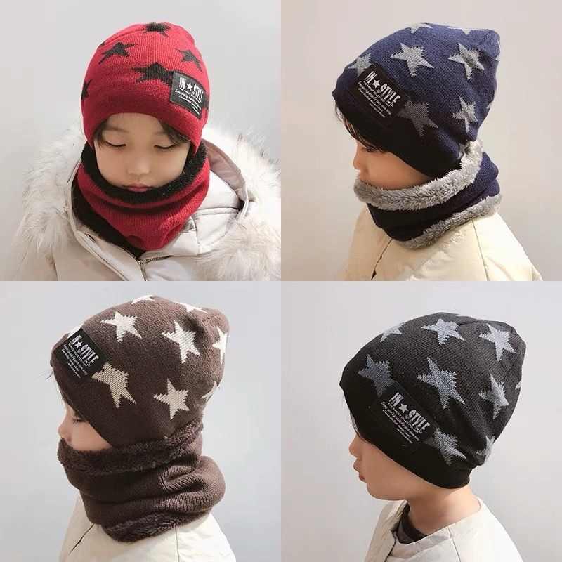 סט כובע וחם צוואר מהממים לילדים