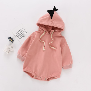 Image 2 - 2020 Baby Bodysuits Cotton Hoodie Bottom Cover And Crawling Suit For Baby Children Pink Bodysuit Baby Girl Clothes