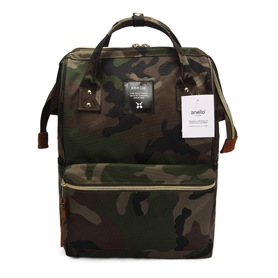 Anello Ring Backpack Canvas School Printing Ring Bag Large Backpack Women's Vintage Brand Male Women Backpack Youth Bag