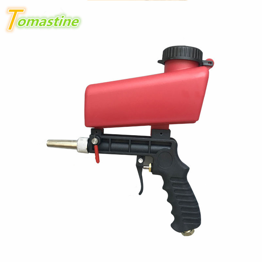 Pneumatic Sandblasting Gun Durable Home Repair Tool Kit 90PSI Hardware Tools Handle Sand Blasting Machine
