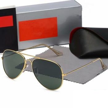 2020 High Quality Aviation Sunglasses Women Brand Designer Pilot Sunglass Women Female Men Sun Glasses For Women Mirror Sunglass