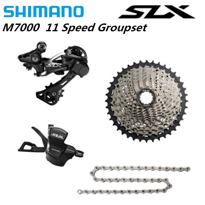 <font><b>SHIMANO</b></font> 2018 NEW <font><b>SLX</b></font> <font><b>M7000</b></font> <font><b>1x11</b></font> 11S Speed <font><b>Groupset</b></font> MTB Mountain Bike Contains Shift Lever & Rear Dearilleur & Cassette & Chain image