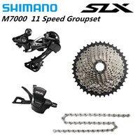 SHIMANO 2018 nowy SLX M7000 1x11 11S prędkość Groupset MTB Mountain Bike zawiera dźwignia zmiany biegów i tylne Dearilleur & kaseta i łańcuch w Przerzutki rowerowe od Sport i rozrywka na