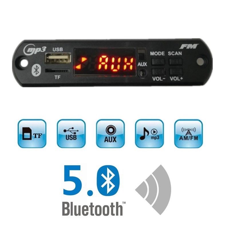 VICFINE Mp3 Module TF USB FM Auxiliary Radio MP3 Player Integrated Car USB Bluetooth MP3 Decoder Board Module Audio Modification