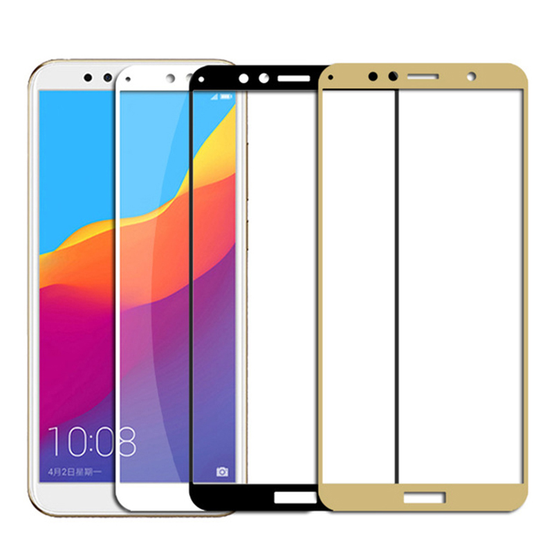 9D Full Protective Glass For Huawei Honor 8 9 Lite 8X 8A 8C 8S Screen Protector For Honor 7X 7A 7C Pro 7S Tempered Glass Film