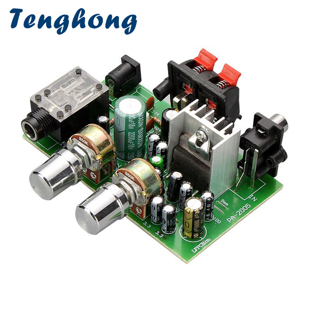 Tenghong Mini Sound <font><b>Amplifier</b></font> <font><b>20W</b></font>+<font><b>20W</b></font> 2.0 Channel Power <font><b>Audio</b></font> <font><b>Amplifiers</b></font> DC12V Microphone <font><b>Amplifier</b></font> Board Stereo Amplificador image