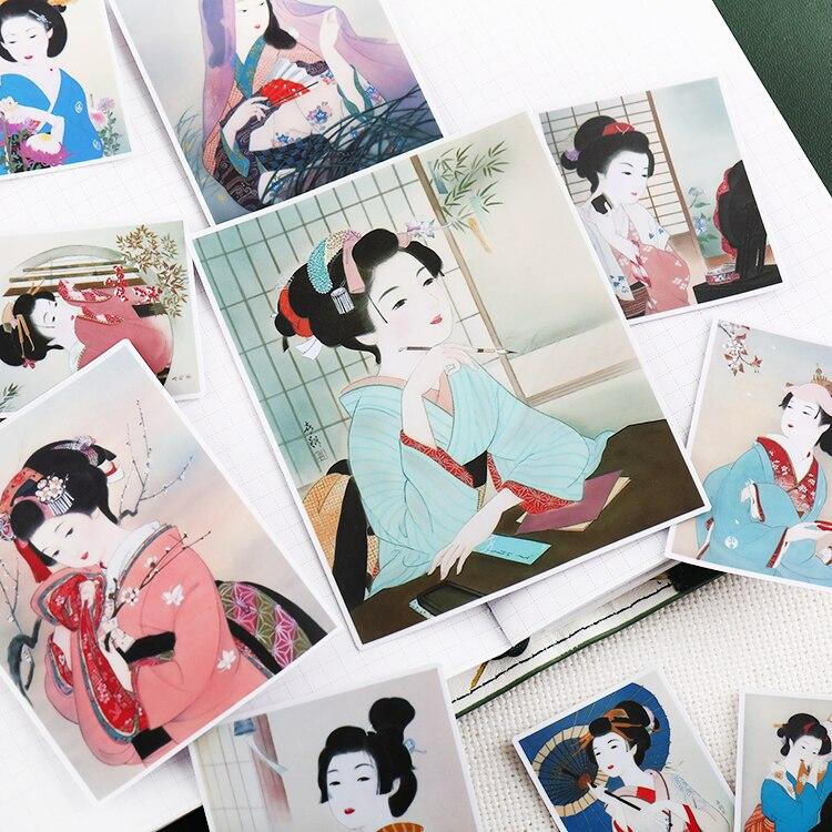 Stickers 13pcs Japanese Girls Handbook Waterproof Beauty Daily Decoration Tool Korean Cartoon Expressions Painting Waterproof
