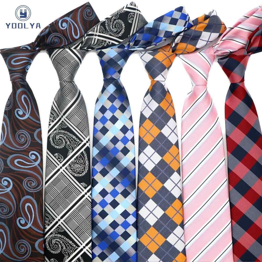 Men/'s Wedding Party Tie Classic 8cm Polyester Striped Plaid Silk Woven Necktie