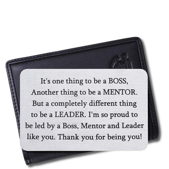 Appreciation Gifts Wallet Card for Mentor Leader Thank You Note Leaving Going Away Gifts Retirement Boss Birthday Gifts image