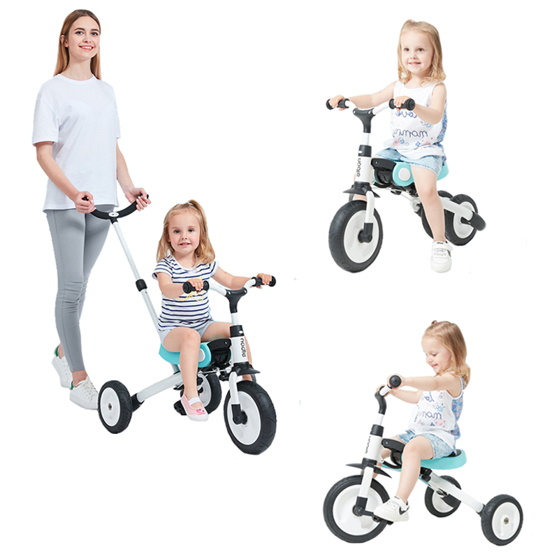 Children Tricycle Ride On Toys Kids Folding Bike Outdoor Tricycle Baby 3 In 1 Balance Bicycle