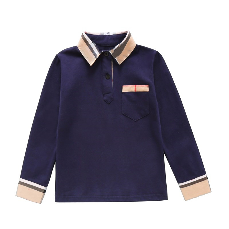 New Spring Boys Girls latticen Cotton T Shirts Children Tees Boy Girl Long Sleeve T Shirts Kids Tops Brand Baby Clothes 3-8Y 3