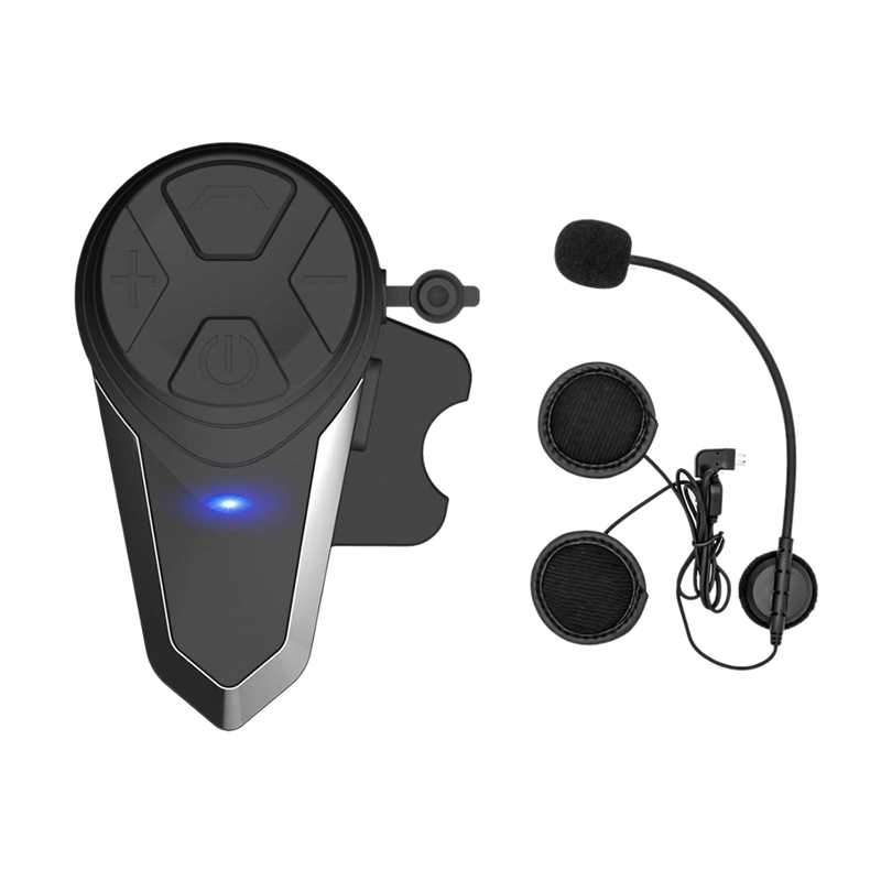 Aaae Top Sepeda Motor Bluetooth Headset, Bt-S3 1000M Helm Bluetooth Sistem Komunikasi Ski Helm Headphone Bluetooth Inter