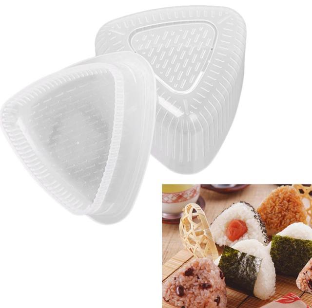 4PCS/Set DIY Sushi Mold Onigiri Rice Ball Food Press Triangular Sushi Maker Mold Sushi Kit Japanese Kitchen Bento Accessories 2