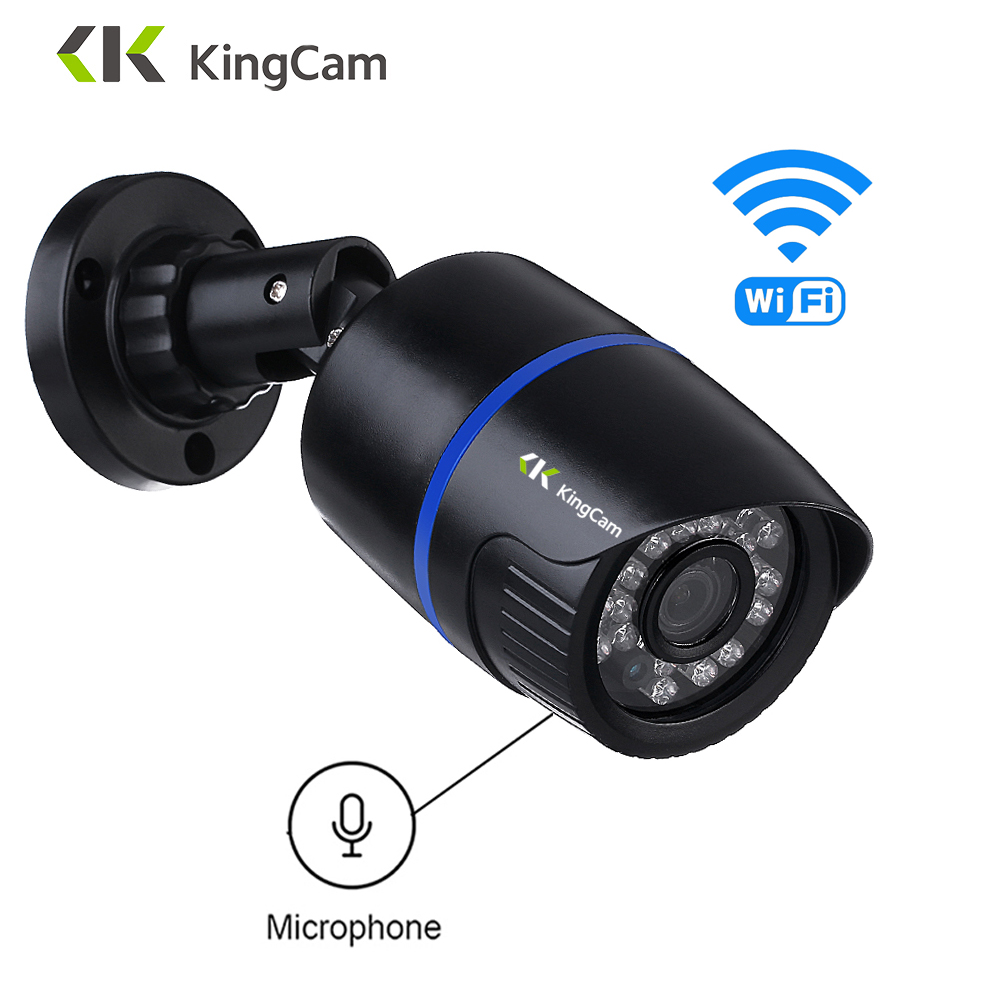 KingCam Audio  Wifi IP Camera Outdoor 1080P Wireless  Indoor Weatherproof CCTV Bullet Cameras With Microphone,Support SD TF Card