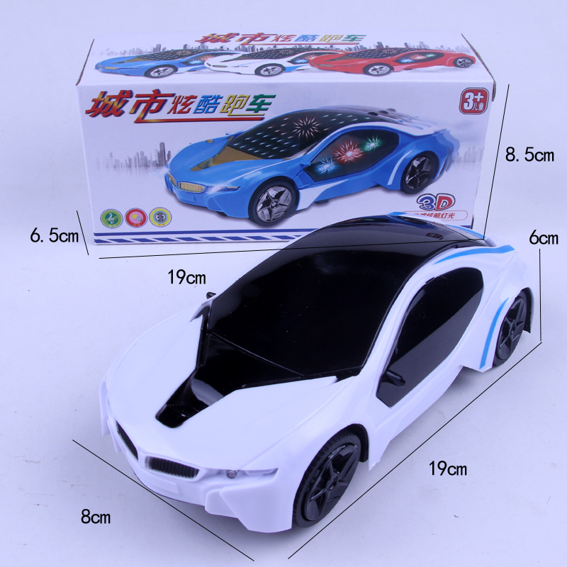 New Style CHILDREN'S Electric Toy Car Universal Flash Music Car Model 3D Light Colorful Speed Race Car Model