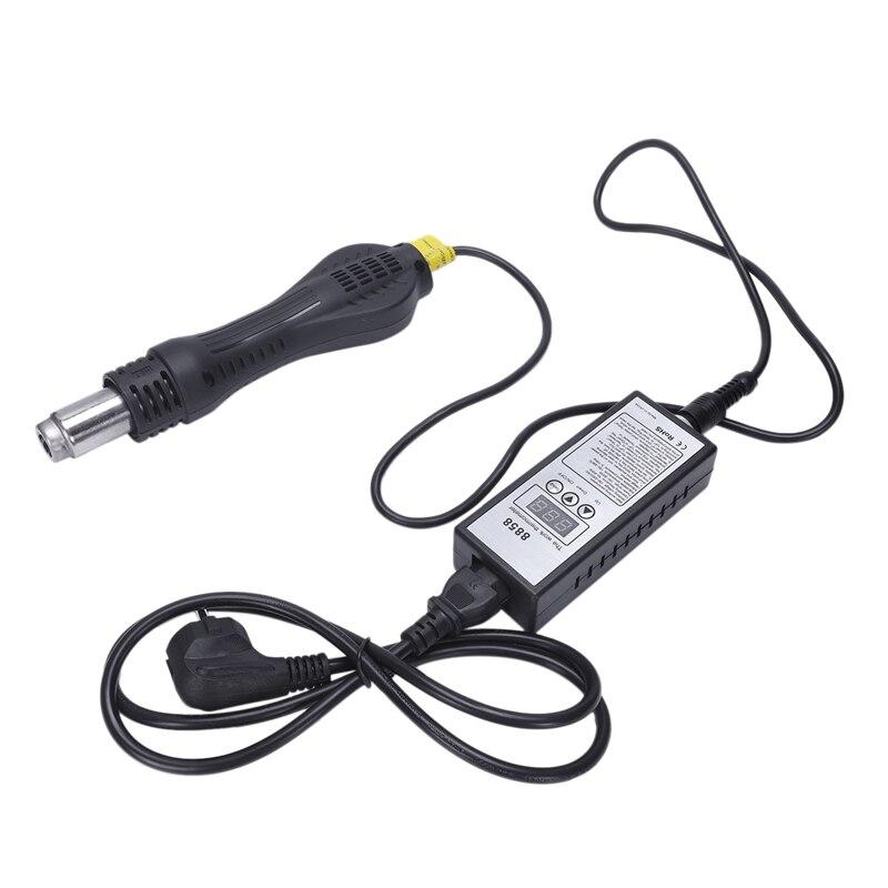 Us Plug,8858 Hot Air Portable Bga Rework Solder Station Blower Hair Dryer Soldering Hairdryer +858 858D 8586 Ceramic Hea