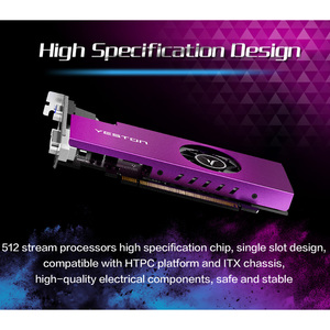 Image 3 - Видеокарта Yeston Radeon mini RX 550 GPU 4 ГБ GDDR5 3,0 бит для игрового настольного ПК, видеокарты с поддержкой VGA/DVI D/HDMI PCI E