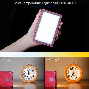 Image 2 - VIJIM VL 1 Mini Led Video işığı fotoğraf aydınlatma Vlog 96 boncuk 3500 k 5700 k akıllı telefon bir artı DSLR kamera Sony A6400
