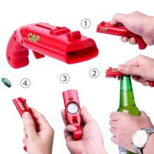 Beer Bottle Opener Gun shape Drink Bottle Opener Spring Cap Catapult Launcher