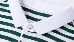 2020 Nieuwe Zomer Mannen Gestreept Katoen Korte Mouw T-shirt Groen En Wit Een