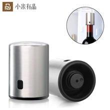 Умная пробка для бутылки вина circle joy вакуумная из нержавеющей