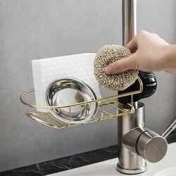 Zlewozmywak kuchenny gąbka mydło tkaniny spustowy stojak uchwyt do wieszania-półka