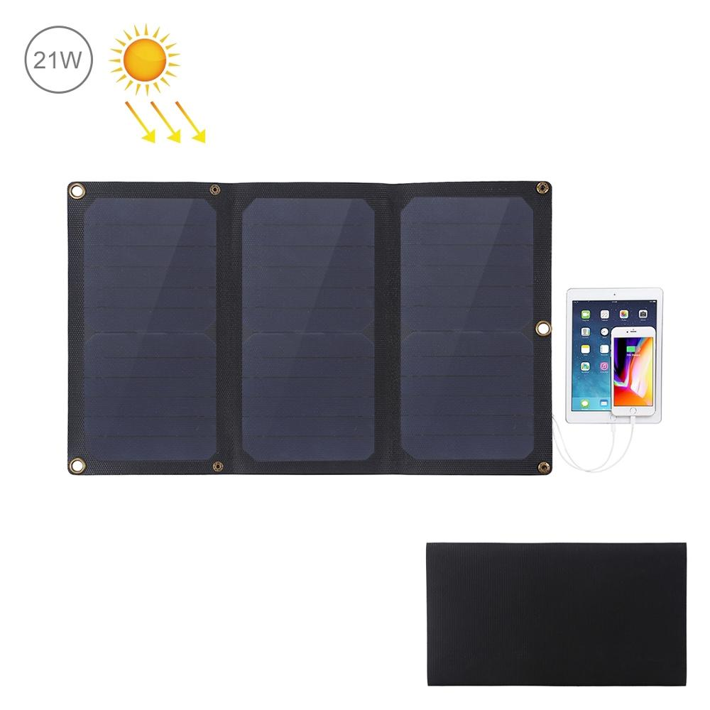 HAWEEL Flexible 14W/21W/28W ETFE Solar Panel Charger with 5V /2A/3A Max Dual USB Ports image