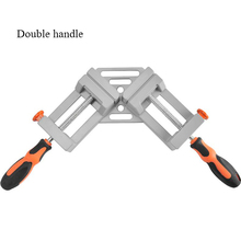 Double-handle 90 Degree Right Angle Clip Photo Frame Corner Clip Woodworking Vise Workbench axis 90 degree corner right angle clamp vise rame folder fast angle folder for woodworking single handle
