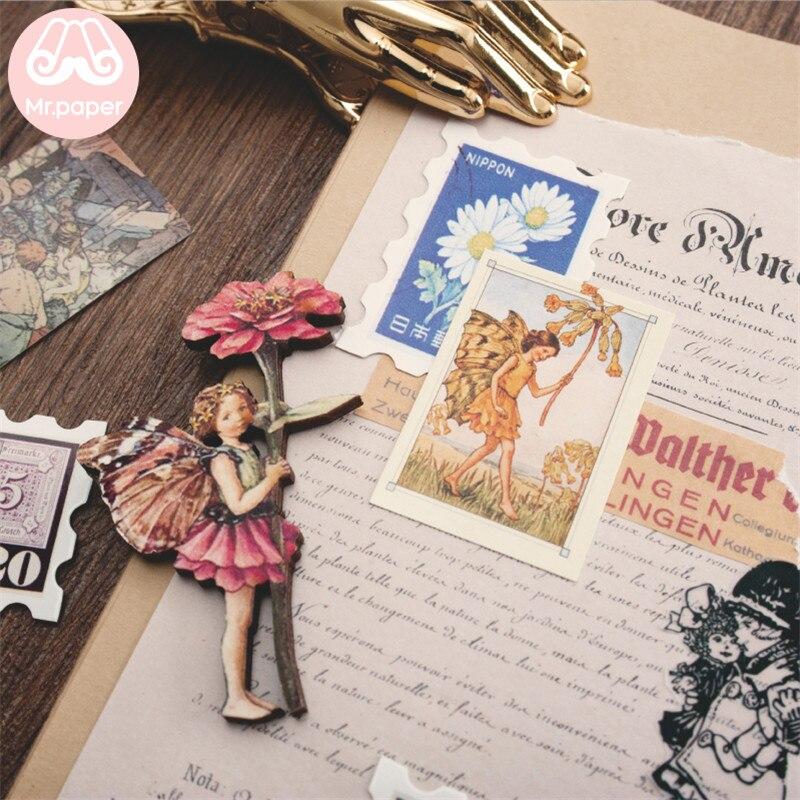 Mr.paper 100pcs/box Vintage Story Kraft Paper Scrapbooking/Card Making/Journaling Project DIY Diary Decoration LOMO Cards 5