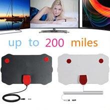 Antenne de télévision numérique HDTV d'intérieur, Mini récepteur de Signal HDTV avec câble coaxial pour les chaînes gratuites, obtenez le Signal dans un rayon de 200 Miles