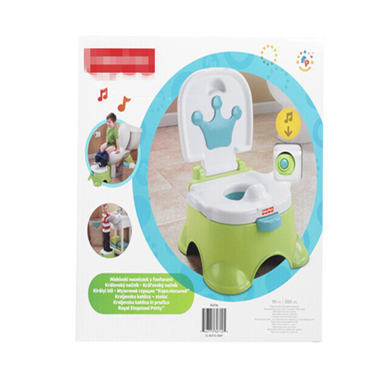 Crown Music Peeing Chamber Pot Infant Urinal Chamber Pot Seat Men And Women Baby Multi-functional Portable Pedestal Pan