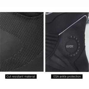 Image 4 - ARCX Xe Máy Nam Cảo Tháo Giày Chống Nước Botas Moto Da Bò Chính Hãng Moto Giày Xe Máy Màu Đen