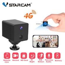 Vstarcam mini câmera de 4g e bateria, 1080p, 4g ip, bateria de 2600mah, wi-fi, mini câmera ir câmera de segurança para vigilância noturna
