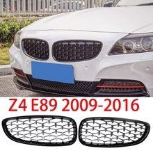 Diamond Style ABS Front Bumper Kidney Grille Grill For-BMW Z4 E89 2009-2016