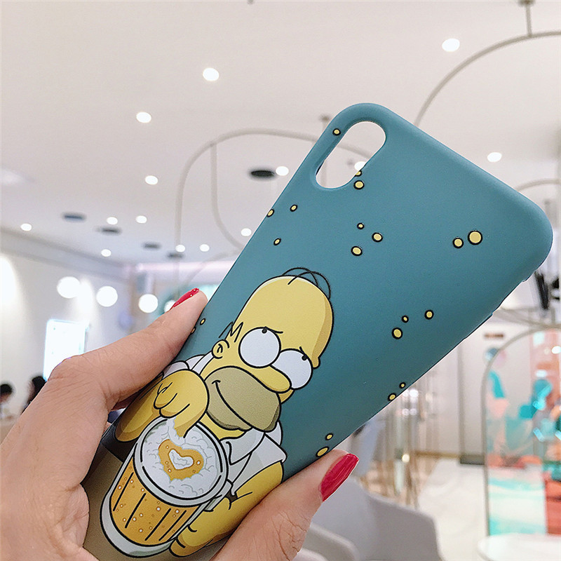 GYKZ Cartoon Homer J. Simpsons Phone Case For iPhone XS MAX XR X 11 Pro 7 8 6 6s Plus Soft Silicone Slim Back Cover Coque Fundas