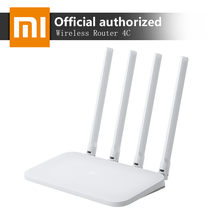 Asli Xiao Mi Mi Wifi Router 4C 64 Ram 300Mbps 2.4G 802.11 B/G/N 4 antena Band Router Nirkabel Wifi Repeater APP Kontrol(China)