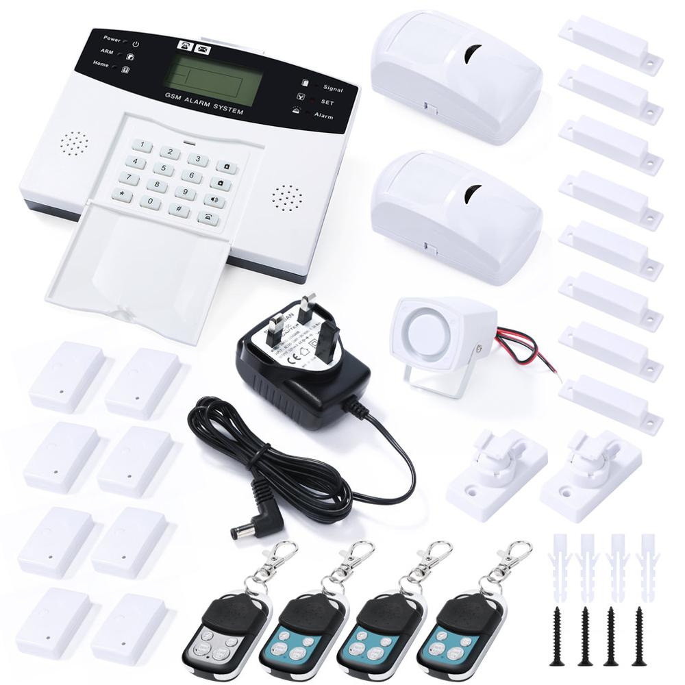 Wireless GSM Alarm System Security Home SMS Intelligent Kit LCD Display Remote Control Security Household Warning