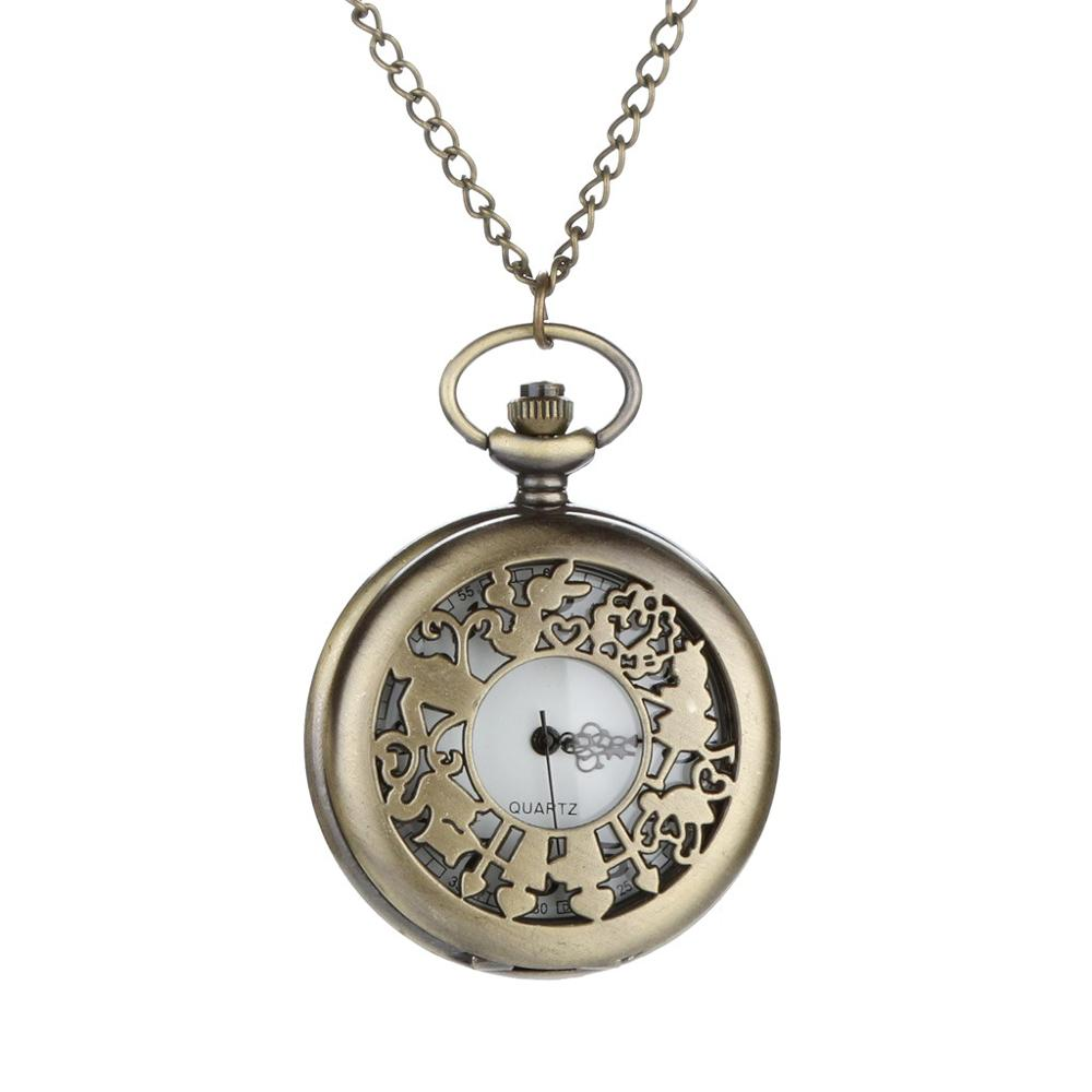 Personalized Pattern Steampunk Vintage Quartz Roman Numerals Pocket Watch Watch Clock Wholesale Relogio De Bolso #4D30