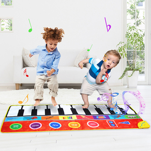 Image 1 - 148*60cm Big Size Music Piano Carpets & 8 Instruments Guitar Accordion Violin Sounds  Musical Play Mat Educational Toys for Kids