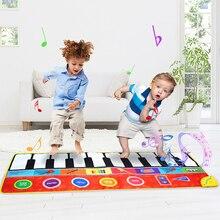 148*60cm büyük boy müzik piyano halı ve 8 aletleri gitar akordeon keman sesler müzikal oyun matı eğitici oyuncaklar çocuklar için