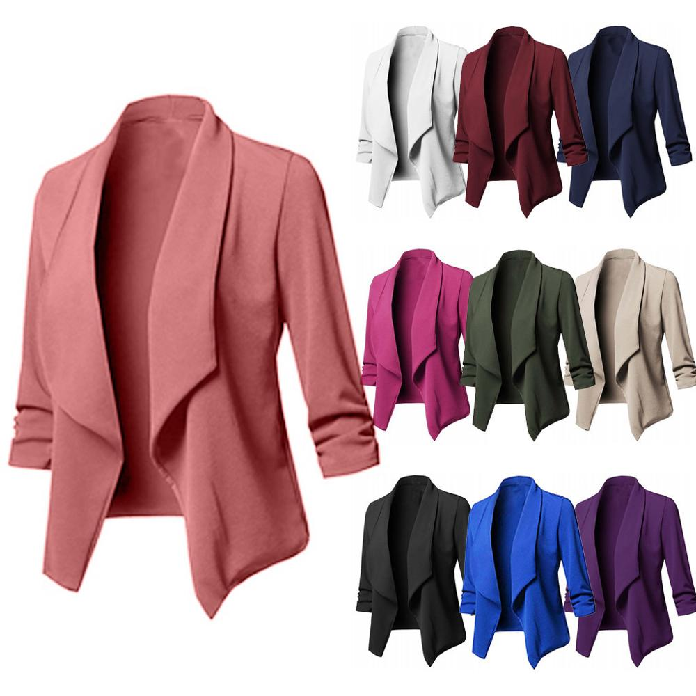 Blazer Women Loose Top Long Sleeve Casual  Jacket Ladies Office Wear Coat Blouse Blazer Mujer Blazer Feminino пиджак женский Z4