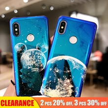 [Clearance] For Xiaomi A2 Case Luxury Electroplate Blue Light Soft TPU Phone 6X Silicone Starry Sky Full Cover