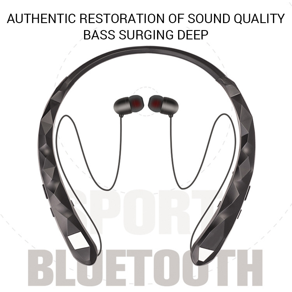 Outdoor Bluetooth wireless Earphones sports In-ear Magnetic Headphones Hanging Back Sports Music Player Stereo Sound Portable