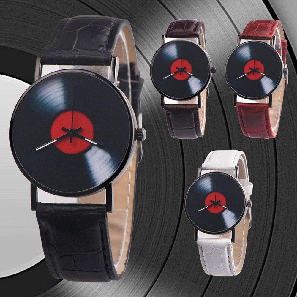 H301851d462ce44da81afcc65f5b828f2e 2020 Fasion Men's Watch Neutral Watch Retro Design Brand Analog Vinyl Record Men Women Quartz Alloy Watch Gift Female Clock NEW