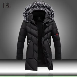 Image 1 - Chaqueta de invierno para hombre y mujer, abrigo grueso y delgado informal, Parkas con capucha, abrigos largos, Parka con cuello de piel, prendas de vestir