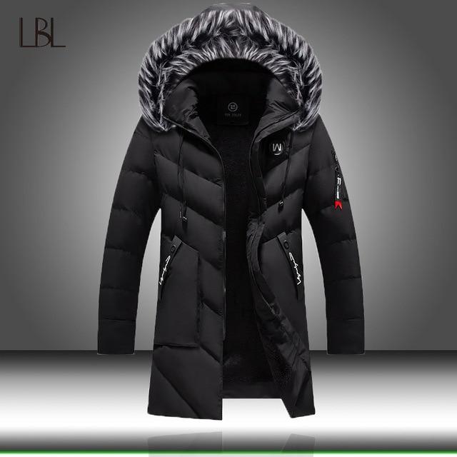 Chaqueta de invierno para hombre y mujer, abrigo grueso y delgado informal, Parkas con capucha, abrigos largos, Parka con cuello de piel, prendas de vestir