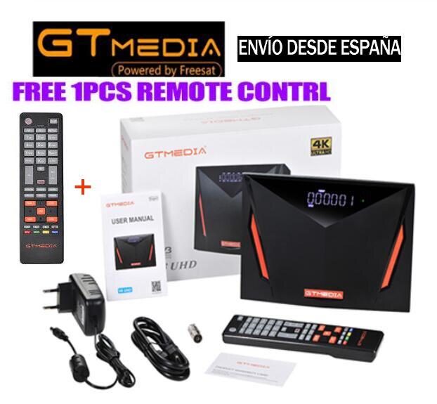 Спутниковый ресивер Gtmedia V8 UHD 4k DVB S2, встроенный Wi-Fi, поддержка H.265 DDVB-S/S2/S2X + T/T2/Cable/ATSC-C/ISDBT VS V8X