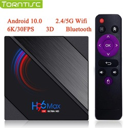 H96 MAX H616 Android 10 Torntisc TV Box 2020 6K 3D 4G 64G lecteur multimédia intelligent 2.4G/5G WiFi Bluetooth Quad Core Android TV Box